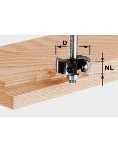 Fraise à feuillurer à plaquettes réversibles HW, queue de 8mm HW S8 D38/12 - Festool