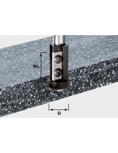 Fraise à affleurer avec plaquettes de rechange HW queue de 12mm HW S12 D21/30WM - Festool