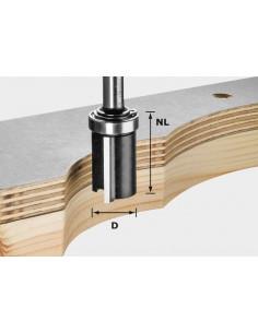 Fraise à affleurer HW avec queue de 8mm HW S8 D19/NL25 - Festool