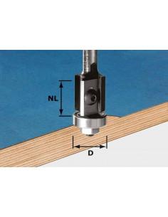 Fraise à araser avec plaquettes de rechange HW avec queue de 8mm HW S8 D19/20WM Z2 - Festool