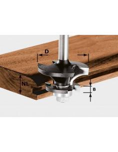Fraise à contre-profil pour languette HW avec roulement butée queue de 8mm HW S8 D43/21 A/KL - Festool