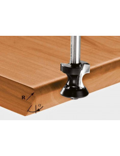 Fraise à gorge creuse HW avec queue de 8mm HW S8 D23,1/R6/30° - Festool
