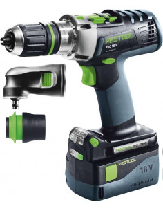Perceuse-visseuse à percussion sans fil PDC 18/4 Li 5,2-Set QUADRIVE - Festool