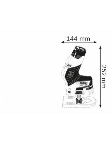 Affleureuse sans fil GKF 12V-8 2 batteries 3,0 Ah L-BOXX - Bosch