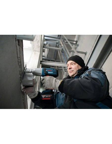 Boulonneuse à chocs sans fil GDS 18 V-LI HT solo Click&Go, L-BOXX - Bosch