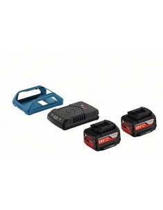 Pack 2 batteries à induction GBA 18V 4.0 Ah W + chargeur GAL 1830 W - Bosch