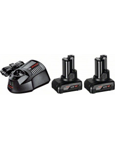 Pack 2 batteries GBA 12V 4.0 Ah + chargeur GAL 1230 CV - Bosch