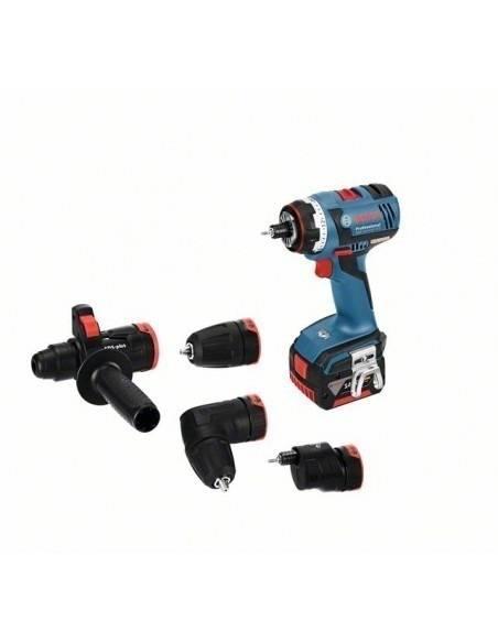 Perceuse-visseuse sans-fil GSR 14,4 V-EC FC2 + 4 mandrins, 2 batteries 4,0 Ah, L-BOXX - Bosch