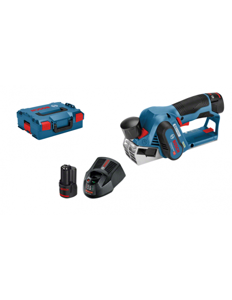 Rabot sans fil GHO 12V-20 2 batteries 3,0 Ah L-BOXX - Bosch