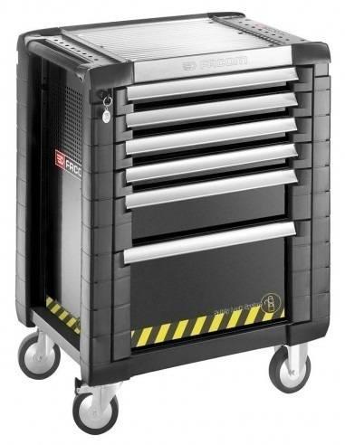 Servante JET+ 6 tiroirs - 3 modules par tiroir - gamme sécurité - JET.6GM3S - Facom