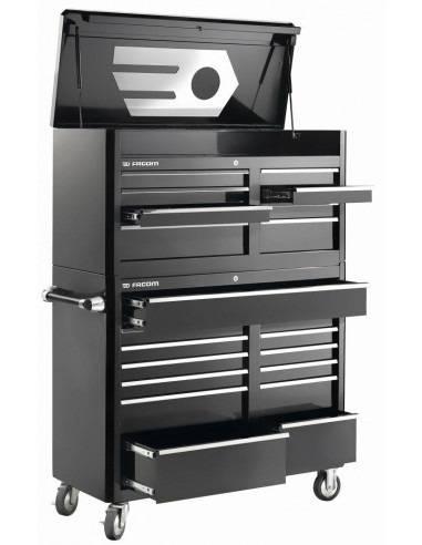 Servante US - 13 tiroirs, noire - FAS.13BK - Facom