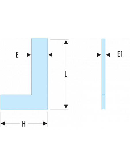 818.CLO - Equerres simples de précision Inox - Classe 0 - 818.200CLO - Facom