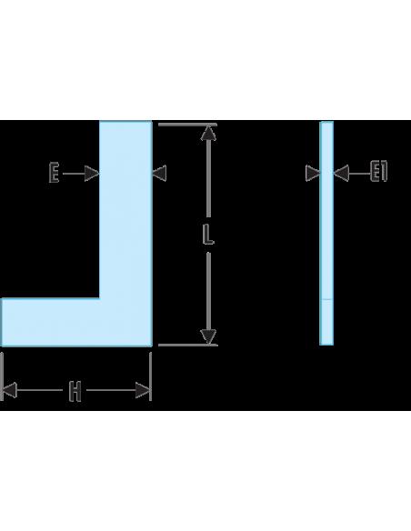818.CLO - Equerres simples de précision Inox - Classe 0 - 818.75CLO - Facom
