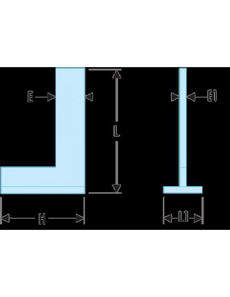 819.CLO - Equerres de précision à chapeau Inox - Classe 0 - 819.75CLO - Facom