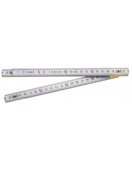 Mètre pliant Duralumin Classe III 1 mètre - 5 branches - DELA.625.00 - Facom