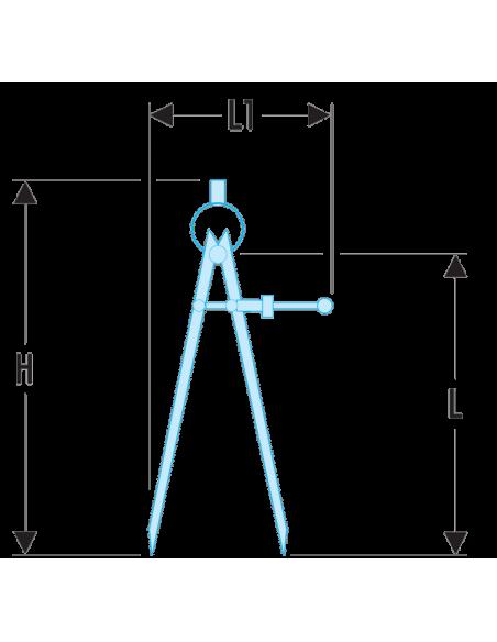 DELA.1901 - Compas à pointes sèches - DELA.1901.05 - Facom