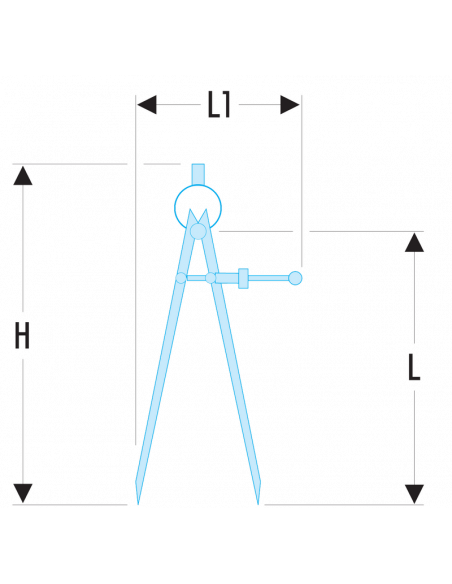 DELA.1901 - Compas à pointes sèches - DELA.1901.08 - Facom