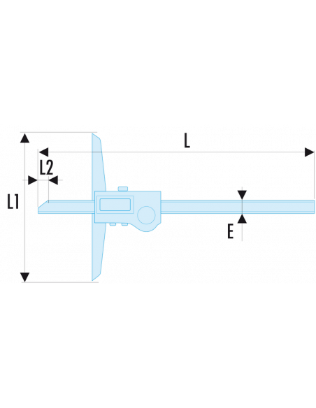 Jauge de profondeur à affichage digital 300 mm - 1/100ème - 1350 - Facom