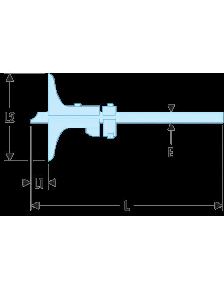 811 - Jauges de profondeur classe 0 - 1/50ème - 811C.250 - Facom