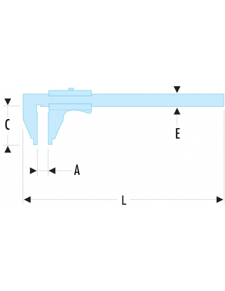 Pied à coulisse universel - 300 mm - 1/50ème - 805.S - Facom