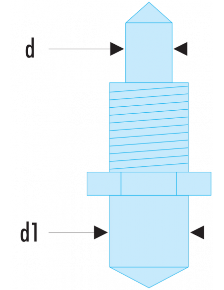 117.E - Jeux de 2 ergots de rechange pour clé 117.B - 117.E2 - Facom