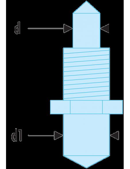 117.E - Jeux de 2 ergots de rechange pour clé 117.B - 117.E4 - Facom