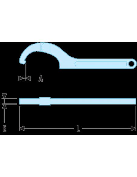 125A - Clés à ergots modèles articulés - 125A.80 - Facom