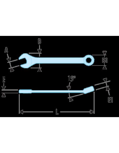40.LA - Clés mixtes longues métriques - 40.19LA - Facom