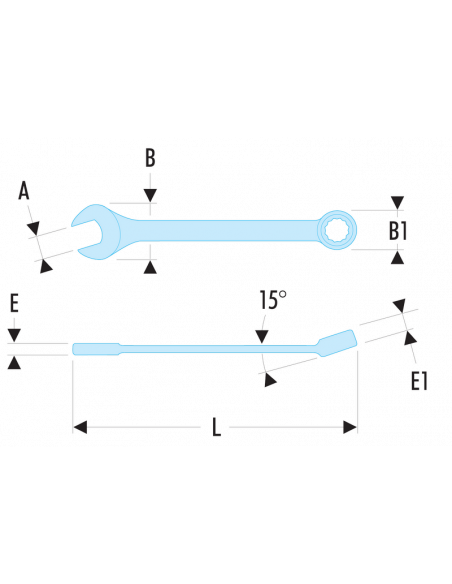 40.LA - Clés mixtes longues métriques - 40.33LA - Facom