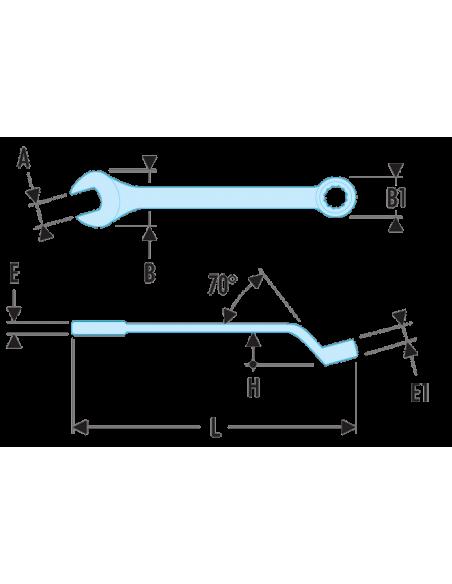41 - Clés mixtes contrecoudées métriques - 41.11 - Facom