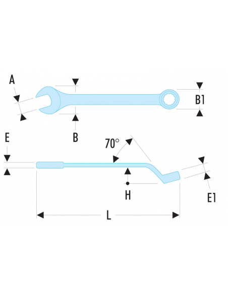 41 - Clés mixtes contrecoudées métriques - 41.27 - Facom