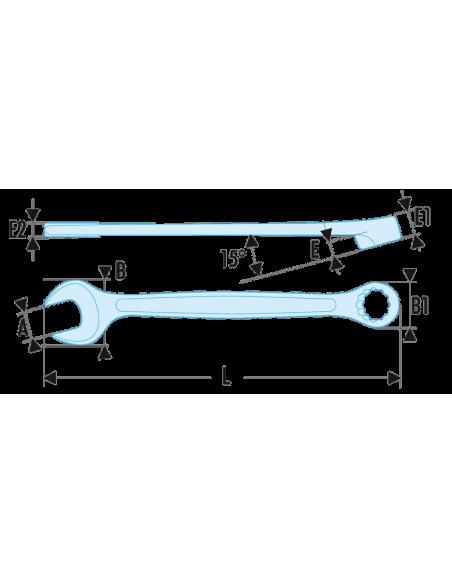 440 - Clés mixtes métriques - 440.5,5H - Facom