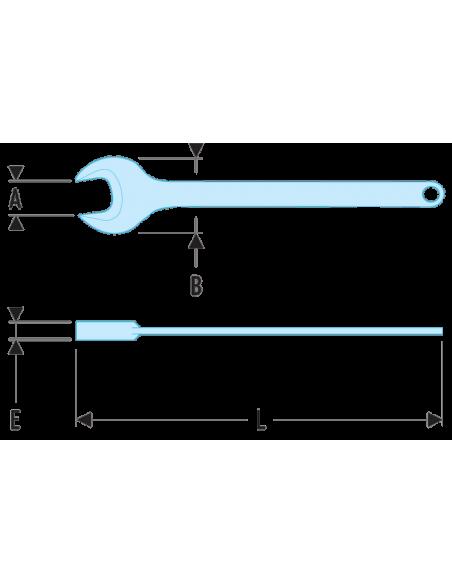 45 - Clés à fourche simple - 45.38 - Facom