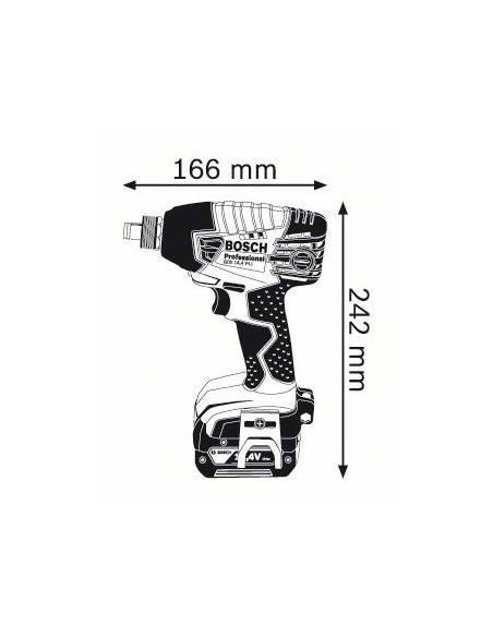 Visseuse à chocs sans fil GDX 14,4 V- LI, 2 batteries Li-Ion 4,0 Ah, L-BOXX - Bosch