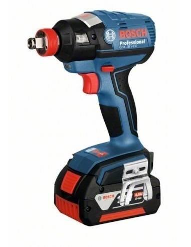 Visseuse à chocs sans fil GDX 18 V-EC, 2 batteries 4,0 Ah Induction, L-BOXX - Bosch