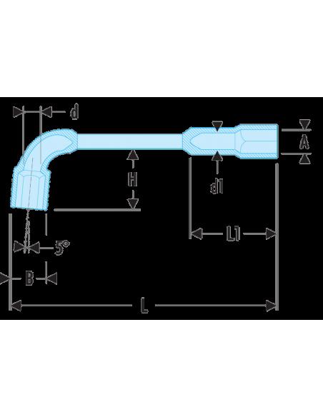 76 - Clés à pipe débouchées forgées 12 pans x 6 pans métriques - 76.34 - Facom