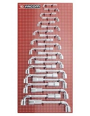 76 - Jeux de clés à pipe métriques - 76.P22M - Facom