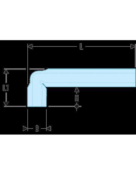 92A - Clés en tube coudées métriques - 92A.19 - Facom