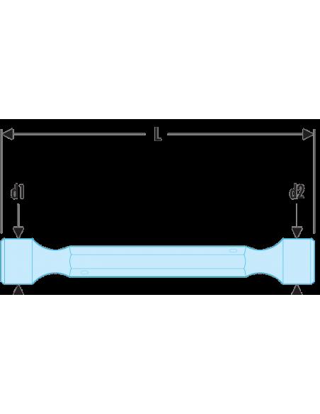 97 - Clés à béquilles doubles forgées métriques - 97.16X17 - Facom