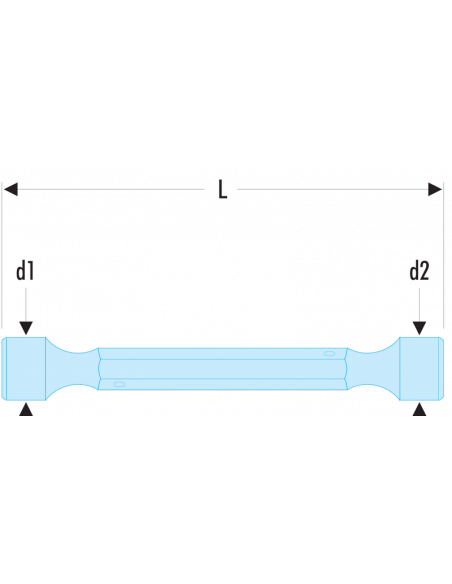 97 - Clés à béquilles doubles forgées métriques - 97.6X7 - Facom