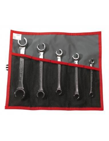 Jeu de 5 clés à tuyauter inclinées à 15° métriques - 42.JE5T - Facom