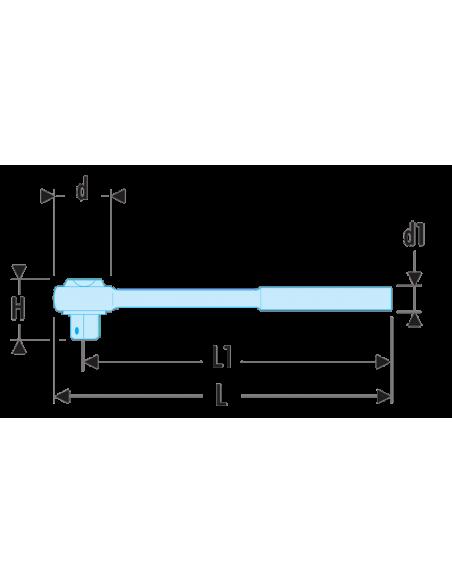 """Cliquet 1/2"""" étanche hautes performances à manche extensible à verrouillage tête flexible - SXL.171 - Facom"""