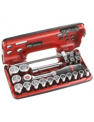 """Coffret DBOX douilles 1/2"""" 12 pans métriques - S.360DBOX412 - S.360DBOX412 - Facom"""