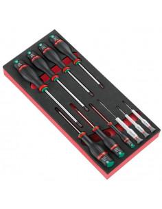 Module de 7 tournevis Protwist® et 3 tournevis Micro-Tech® en plateau mousse - MODM.A6 - Facom