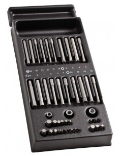 Module 41 embouts et 3 douilles porte-embouts - MOD.E41 - Facom