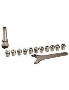 Equipement de fraisage CM3 + 11 pinces de 4 à 20 mm - 20598009 - Sidamo