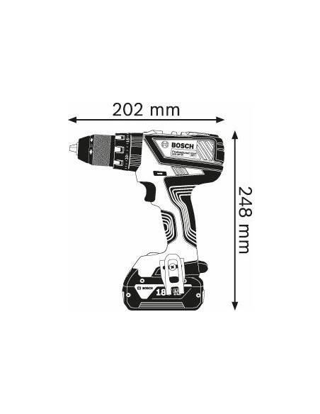 GSB 18V-28, 2 batteries x 2,0 Ah, AL 1820 CV, L-BOXX - Bosch