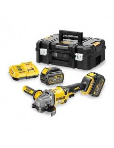 Meuleuse XR FLEXVOLT 54V 2Ah Li-Ion Brushless 125mm - 2 batteries - coffret TSTAK - DCG414T2 - Dewalt