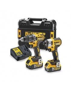 Pack 2 outils XR 18V 5Ah Li-Ion - DCK268P2T - Dewalt