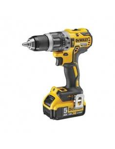 Perceuse visseuse percussion Compact XR 18V 5Ah Li-Ion Brushless - 2 batteries - coffret - DCD796P2 - Dewalt